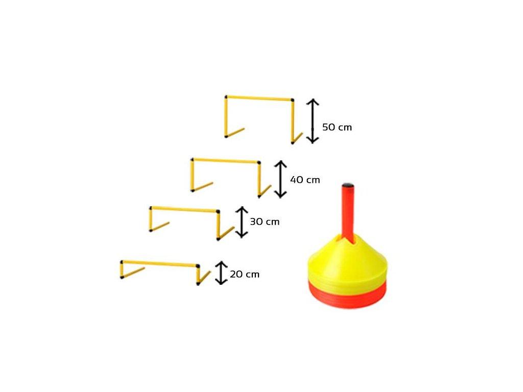 Akční set tréninkových pomůcek-vytyčovací mety a překážky mach (Název Akční set tréninkových pomůcek-vytyčovací mety a překážky mach)