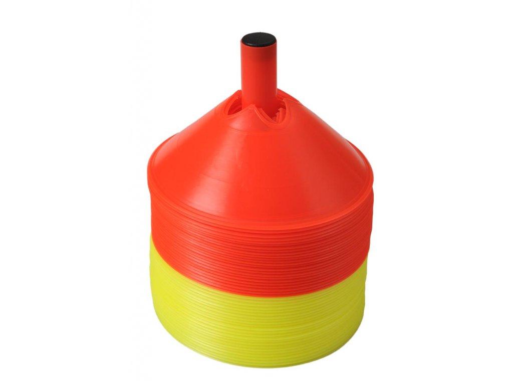 Vytyčovacie znaky (48 ks) - 24x žltý, 24x oranžový (BARVA Oranžová-Žlutá)