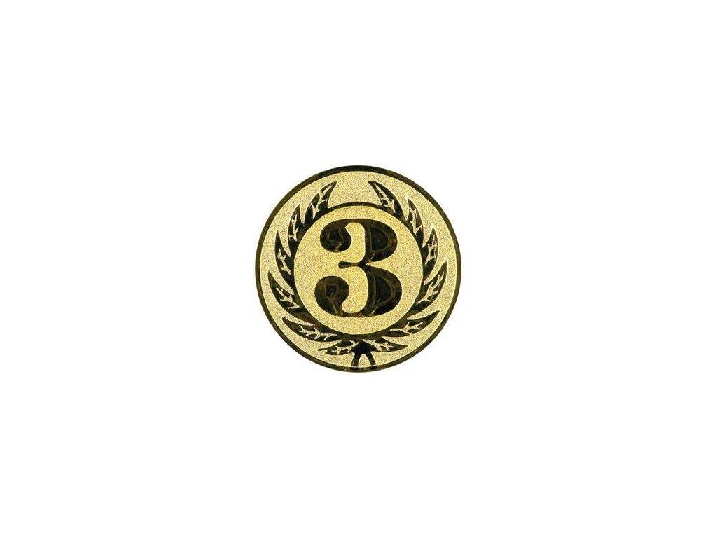Kovový emblém LTK0103 (BARVA Zlatá)
