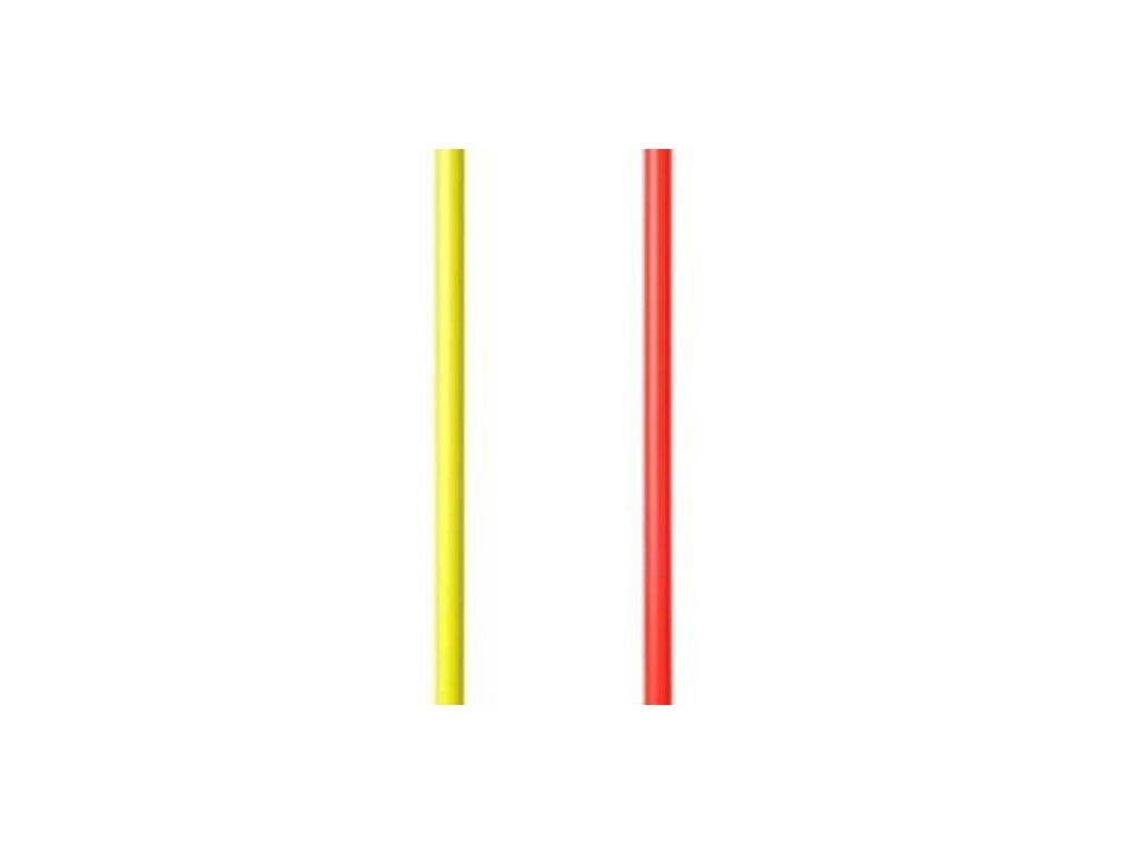Slalomová tyč priemer 25 mm, dĺžka 1600 mm (BARVA Červená)