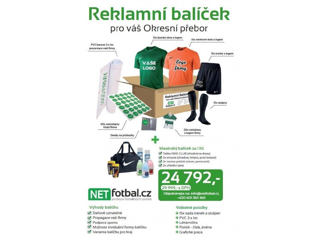 """Reklamný balíček """"Okresný prebor"""" (SmartSport Velikost oblečení Univerzální velikost)"""
