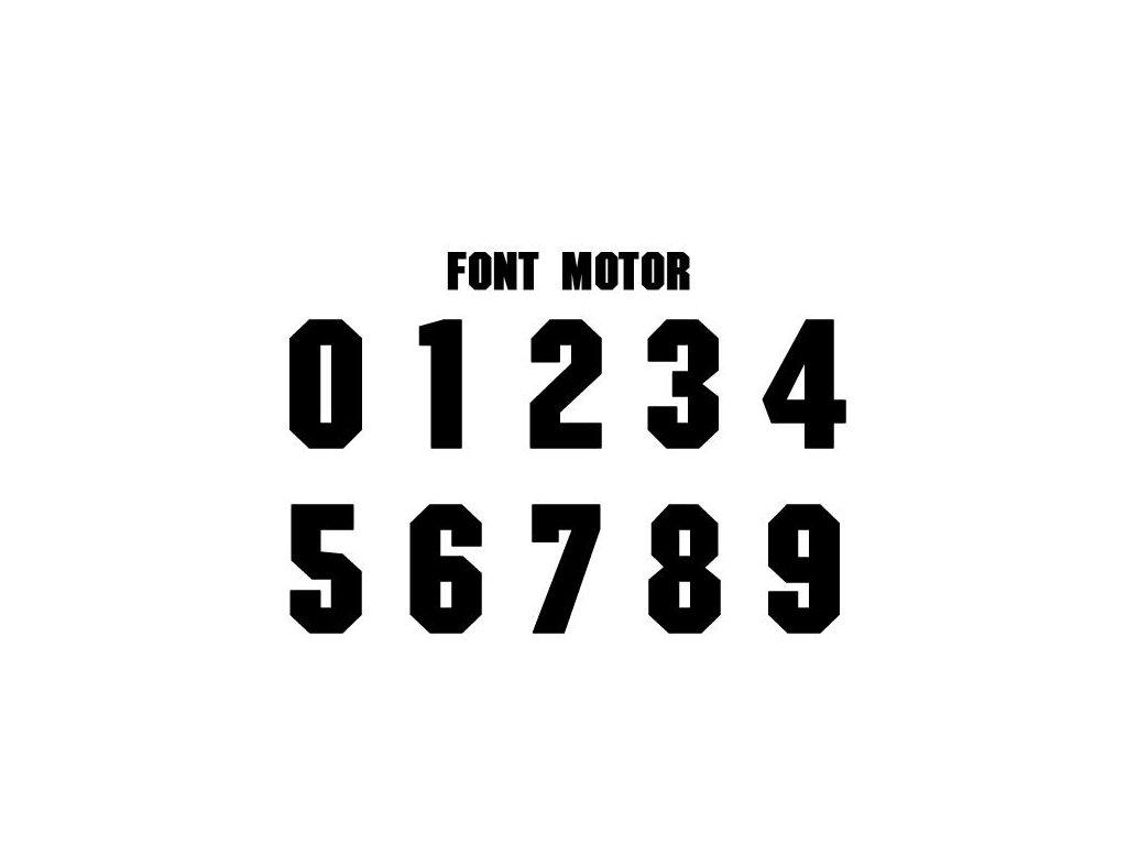 Potlače na sady dresov MOTOR 2-16 (Název Potisky na sady dresů MOTOR 2-16)