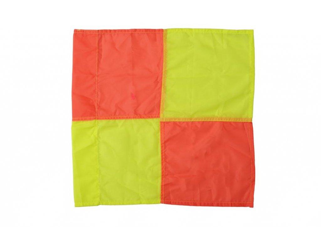 Látka pre zástavku postranných rozhodcov, 40x40 cm, žltooranžová (BARVA Oranžová-Žlutá)