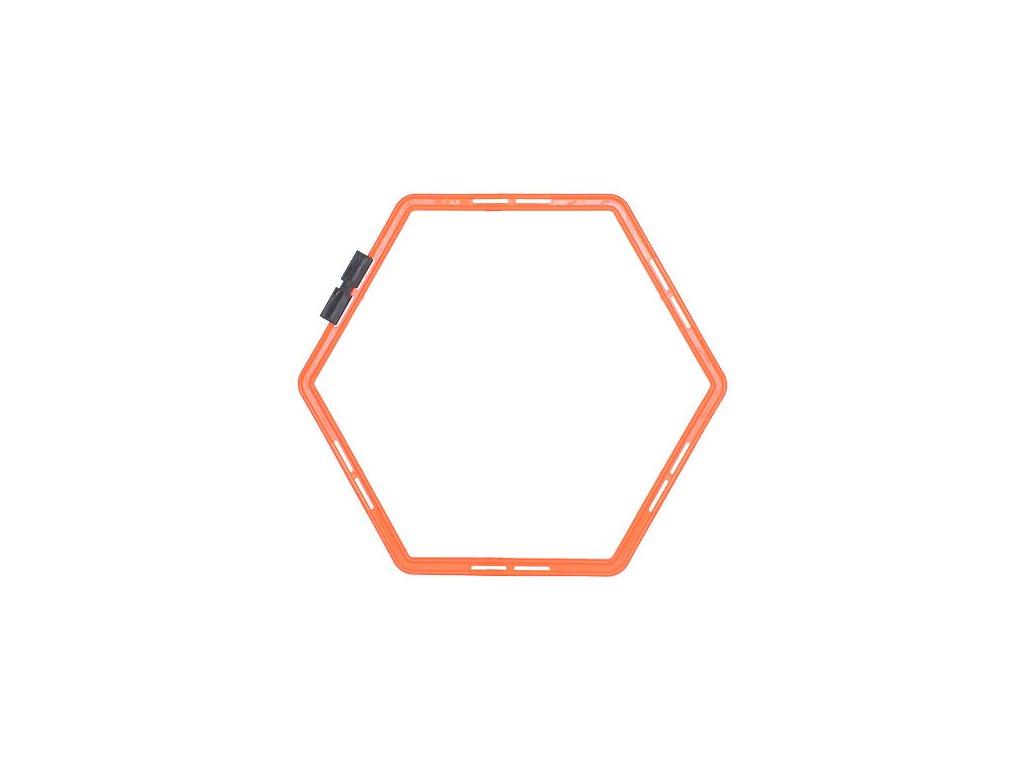 TRANS:Agility Hex proskakovací šesťuholník, nastaviteľný (BARVA Oranžová)