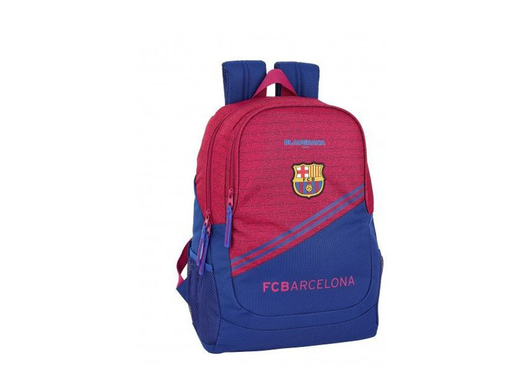 76037 skolni batoh fc barcelona vzor 11928 objem 22 5 litru 32 x 44 x 16 cm cerveny polyester