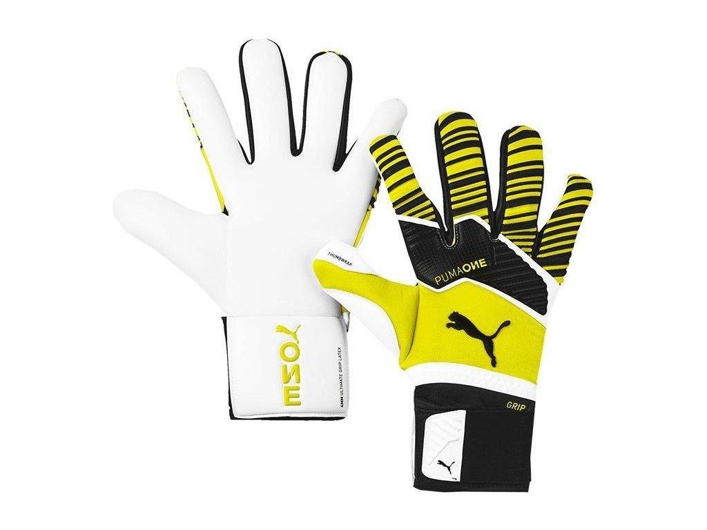 TRANS:Brankárske rukavice Puma One Grip 1 Hybrid Pro (Velikost 10,5, BARVA Žlutá)