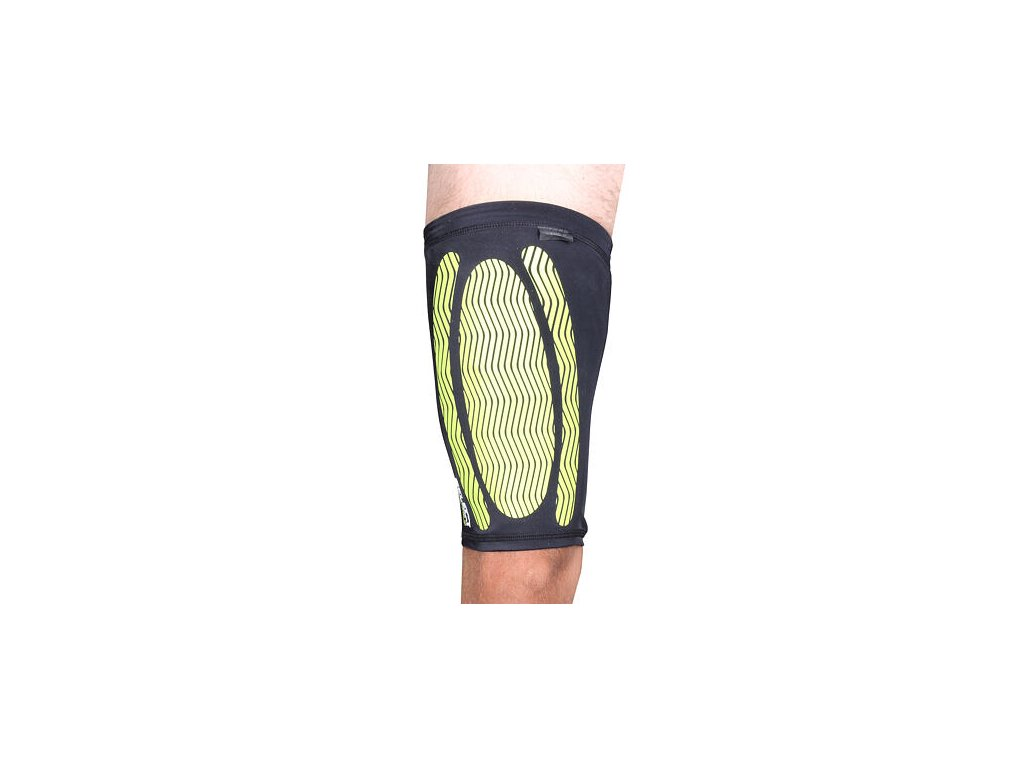 Compression Thigh kompresné návlek na stehno (BARVA Černá, VELIKOST OBLEČENÍ S)