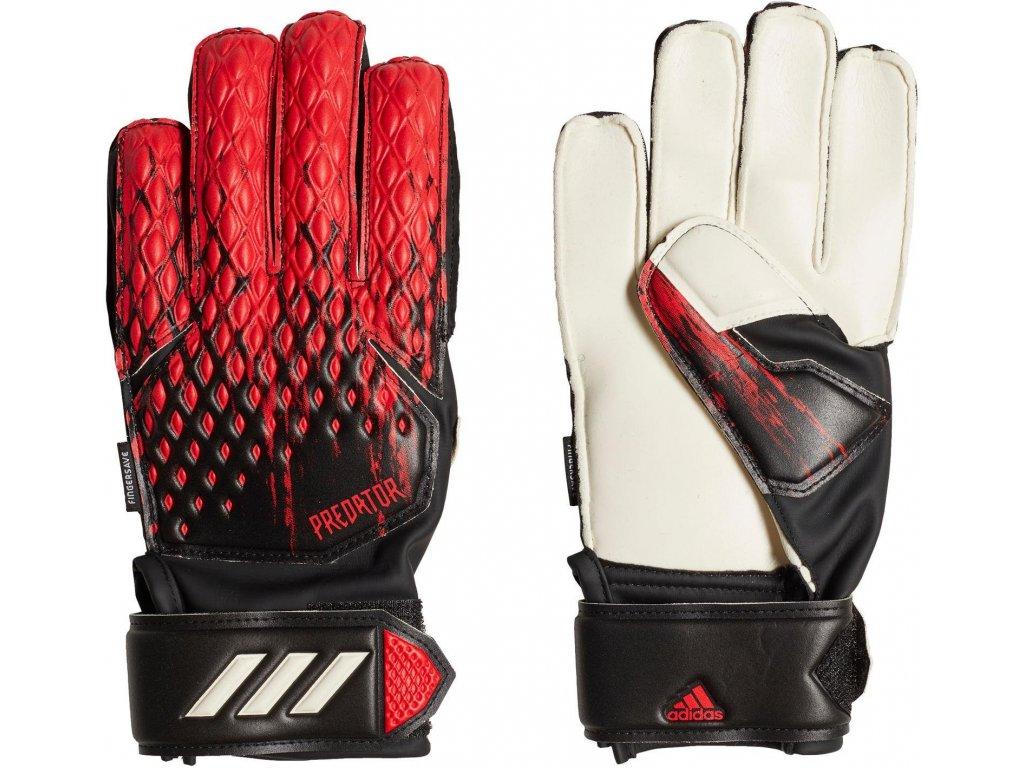 Detské brankárske rukavice adidas Predator 20 Match Fingersave (Velikost 3)
