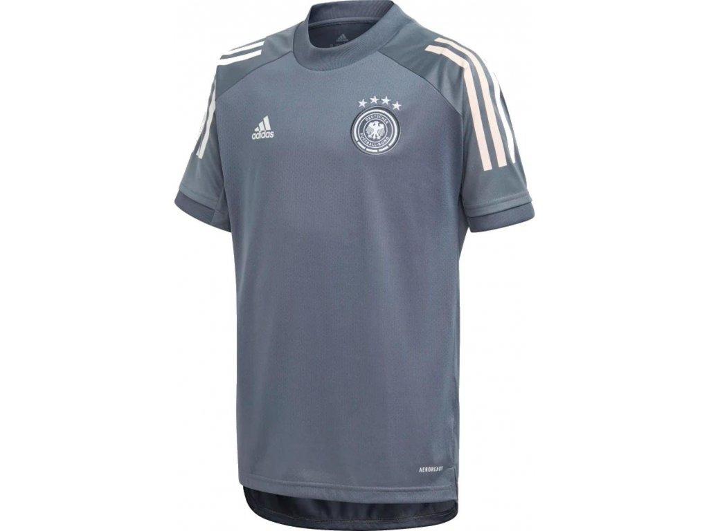 Detský dres adidas Germany Training (Velikost 116, BARVA šedá, Délka rukávu bez rukávu)