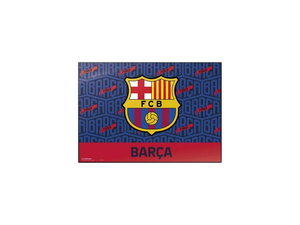 77054 podlozka na stul fc barcelona znak 49 5 cm x 34 5 cm
