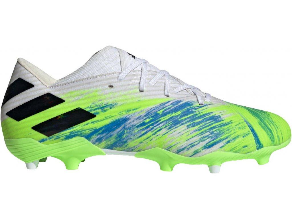 Kopačky adidas Nemeziz 19.2 FG (Velikost 41 1/3 EU, BARVA Bílá)