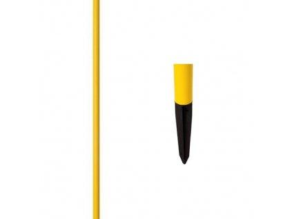 Slalomová tyč průměr 30 mm - s plastovým bodcem