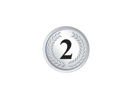 Emblém 2. miesto (BARVA Stříbrná)