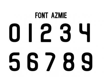 Potlače na sady dresov Azmi 2-16 (Název Potisky na sady dresů AZMIE 2-16)