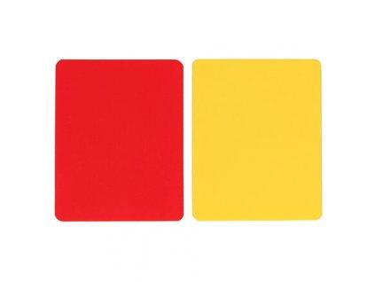 karty pre rozhodcov červená + žltá (balení 1 sada)