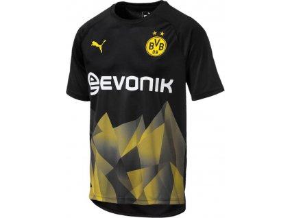 Tréninkový dres Puma Borussia Dortmund Stadium (Velikost L, BARVA Černá, Délka rukávu bez rukávu)