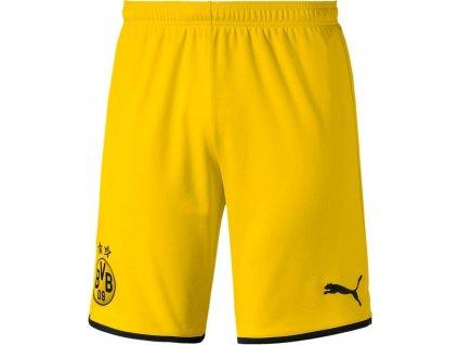 Trenky Puma Borussia Dortmund 2019/20 venkovní (Velikost L, BARVA Žlutá, Délka nohavice šortky)