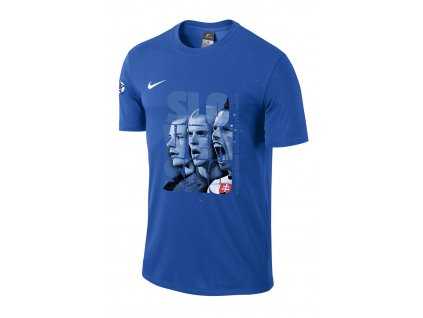 Triko Nike Slovensko (Velikost L, BARVA Modrá, Délka rukávu krátký rukáv)