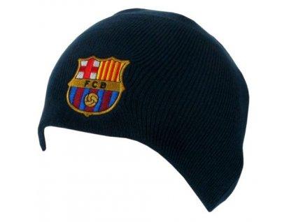 78125 zimni cepice fc barcelona jednoducha universalni modra akryl