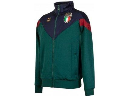 Bunda Puma Italy Iconic MCS Track Jacket (Velikost L, BARVA Zelená)