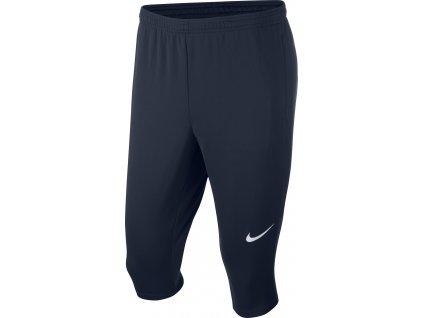 Dětské tréninkové 3/4 tepláky Nike Academy 18 (Velikost L, BARVA Modrá, Délka nohavice dlouhé)