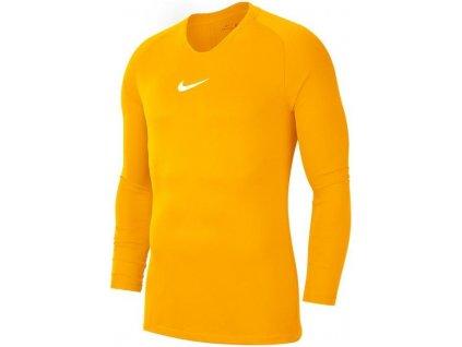 Dětské funkční triko Nike Park (Velikost L, BARVA Žlutá, Délka rukávu dlouhý rukáv)