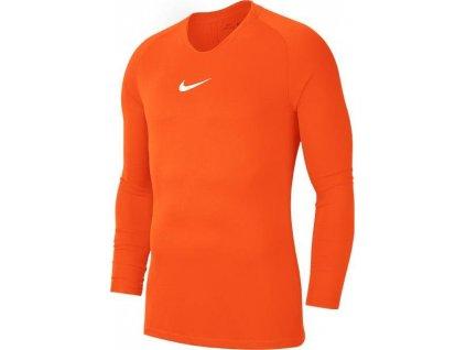 Dětské funkční triko Nike Park (Velikost L, BARVA Oranžová, Délka rukávu dlouhý rukáv)
