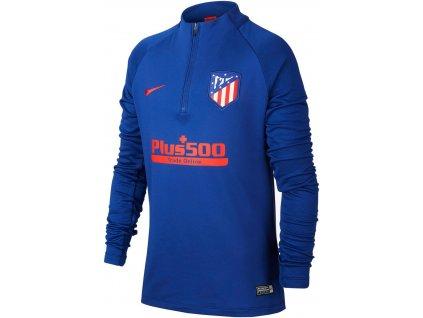 Dětský top Nike Atlético Madrid Strike (Velikost L, BARVA Modrá, Délka rukávu dlouhý rukáv)