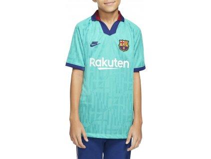 Dětský dres Nike FC Barcelona 3rd 2019/20 venkovní (Velikost L, BARVA Zelená, Délka rukávu bez rukávu)