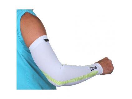 Compression Sleeves kompresní návleky na ruce (BARVA Bílá, VELIKOST OBLEČENÍ S)