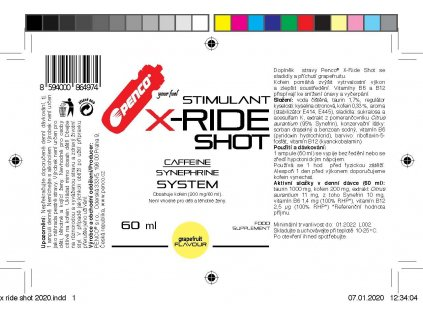Energetický stimulant PENCO X-RIDE 50 tbl čerešňa (Počet tablet/porcí 1)