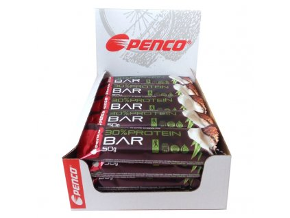 BOX Penco Protein Bar 50g Kokos v pravej čokoláde 20ks (Počet tablet/porcí 20)