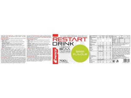 PENCO Regenerační nápoj RESTART DRINK 700g Citron (Počet tablet/porcí 14)