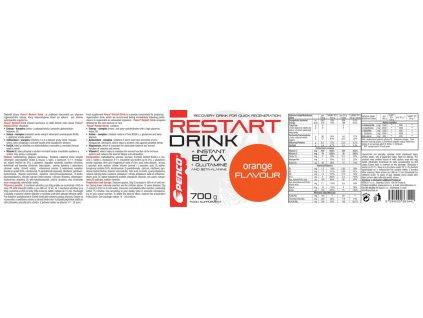 PENCO Regenerační nápoj RESTART DRINK 700g Pomeranč (Počet tablet/porcí 14)