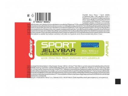 BOX PENCO Sport Jelly Bar Zelené jablko 36Ks (Počet tablet/porcí 36)