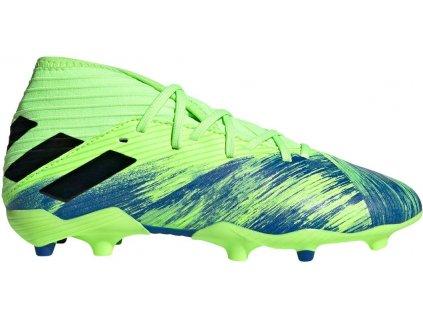 Dětské kopačky adidas Nemeziz 19.3 FG (Velikost 38 2/3 EU, BARVA Zelená, Požadované vlastnosti dětské)