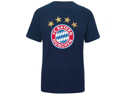 Pánske tričko Bayern Mníchov navy logo (Velikost L)