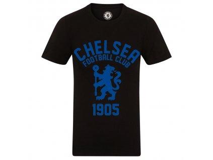 Pánske tričko Chelsea FC graphic black (Velikost L)