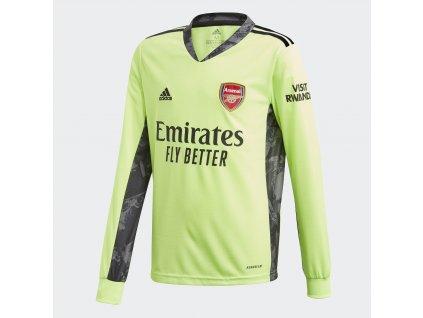 Dětský brankářský dres adidas Arsenal FC 2020/21 venkovní (Velikost 128)