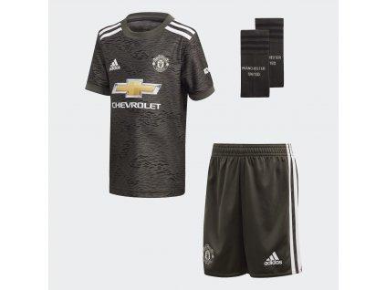 Dětský mini komplet adidas Manchester United FC 2020/21 venkovní (Velikost 104)
