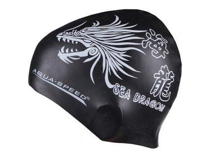 Koupací čepice Aqua-Speed Dragon (BARVA Černá)