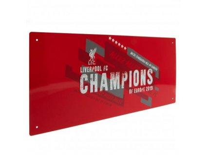 1326025 plechova cedule liverpool fc 40x18 champions