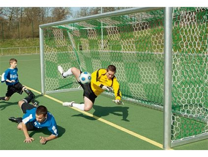 Juniorská fotbalová branková síť PP 3,5 mm (BARVA Bílá/Zelená)