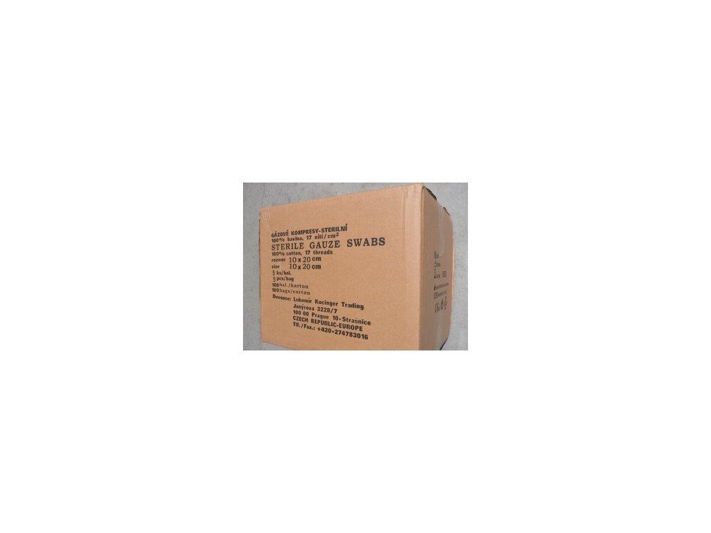 Kompresy sterilní gázové, klinické balení 100x5