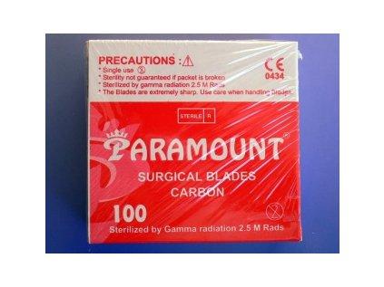 Čepelky skalpelové karbon Paramount