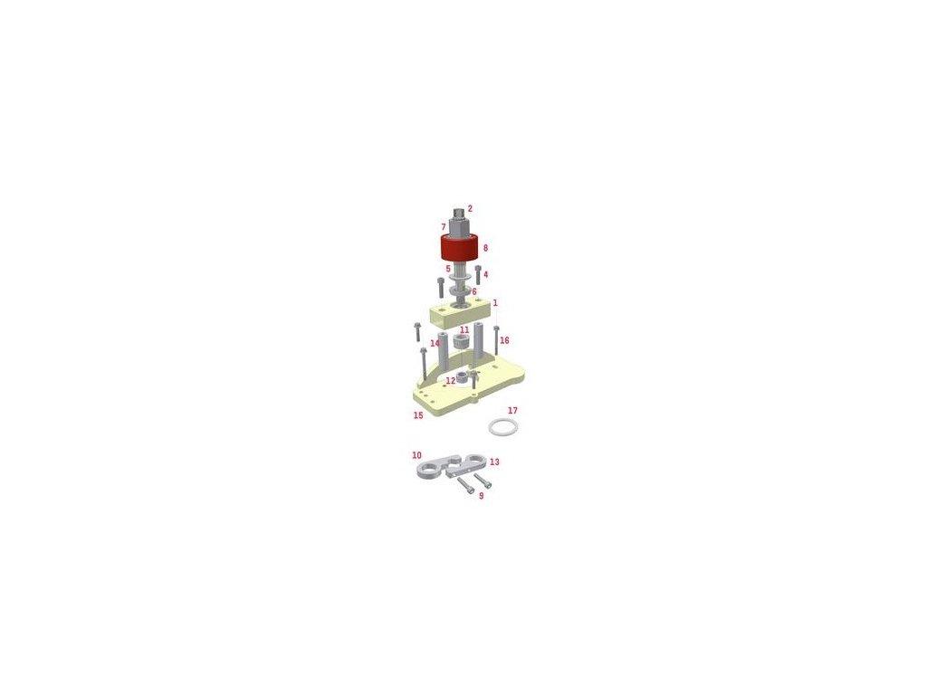 Přípravek na vyndání vstřikovače PSA 1.4/1.6 HDI HUPE120TLP