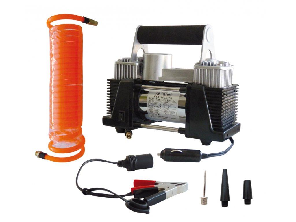 Autokompresor dvoupístový 802A- 12 V,23A
