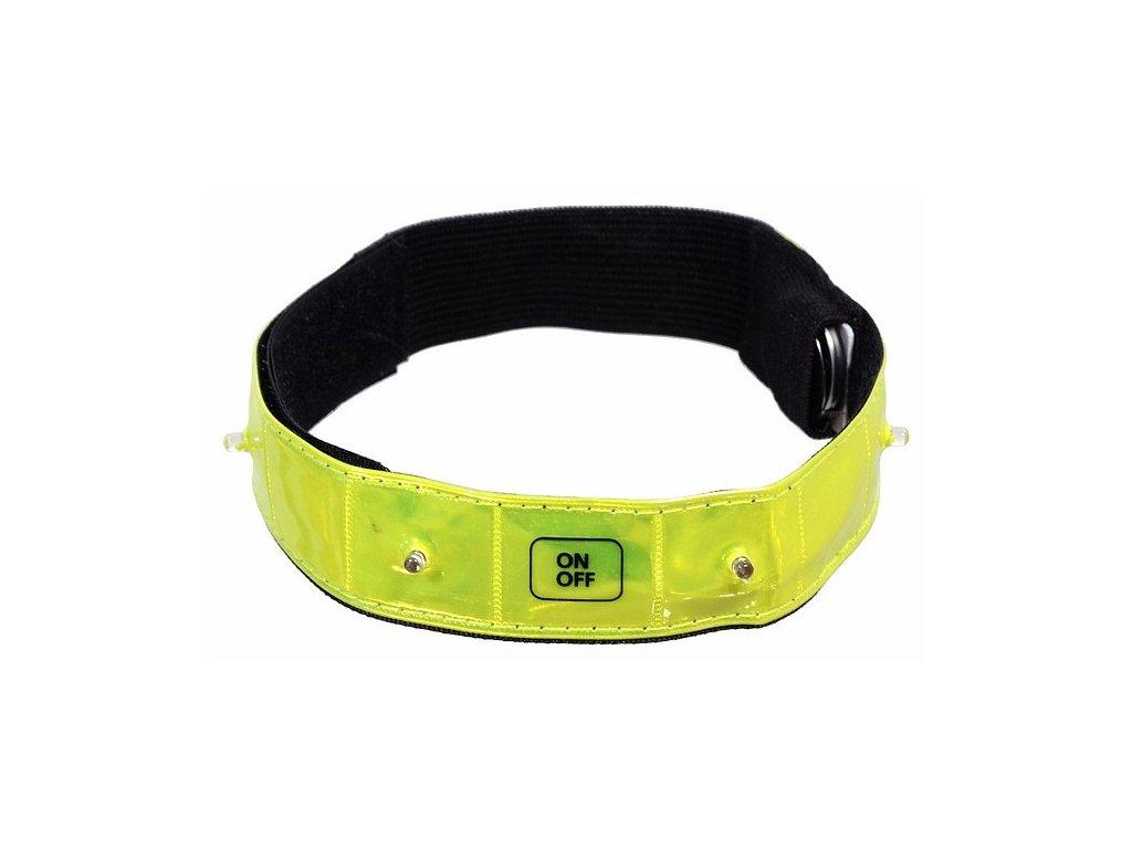 Pásek reflexní svítící 4LED CP-01587
