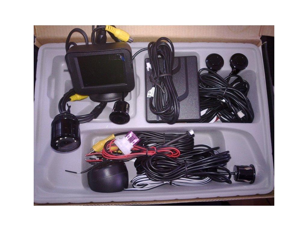 Parkovací systém s kamerou, barevným TFT displejem a 4 senzory NET-KSM-S