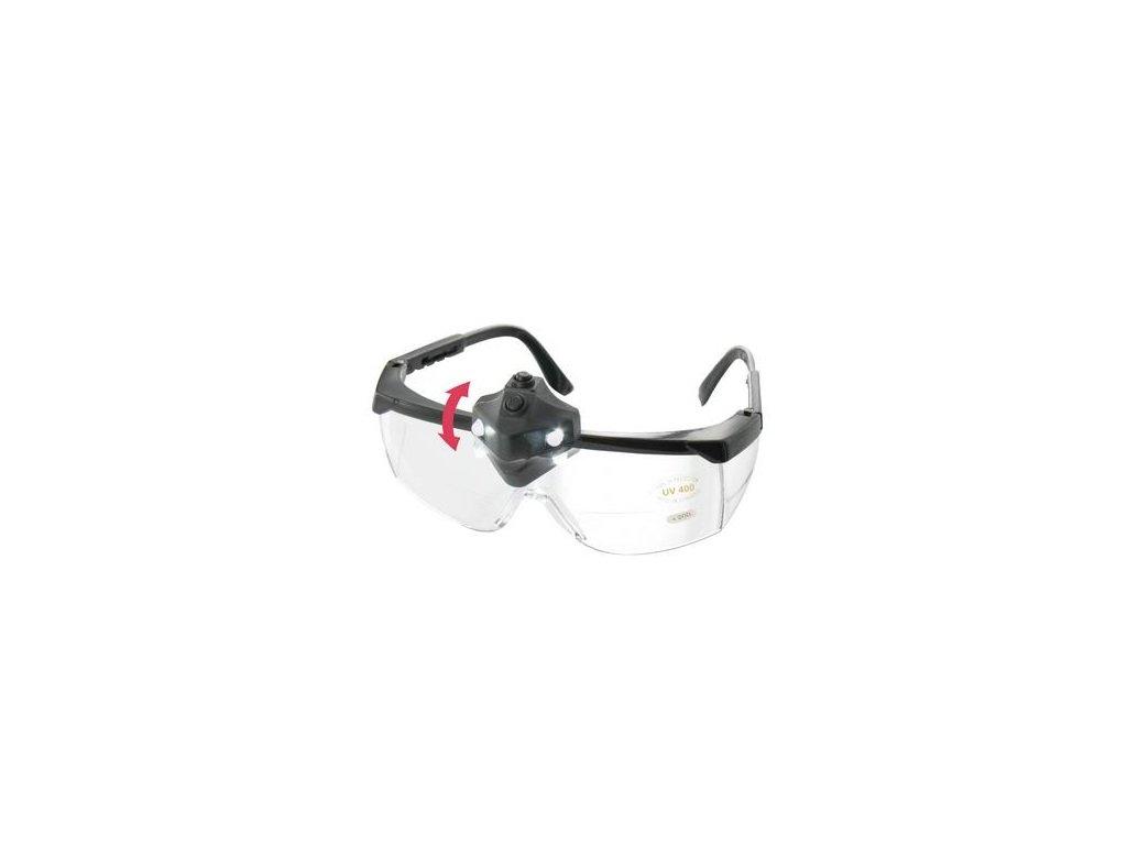 Ochranné brýle s přisvícením a zvětšením HU21027